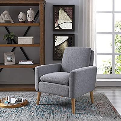 Amazon.com: Lohoms Modern Accent Fabric Chair Single Sofa Comfy .