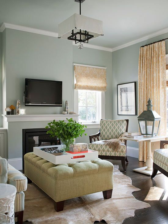 An Open and Family-Friendly Home Makeover | Living room colors .