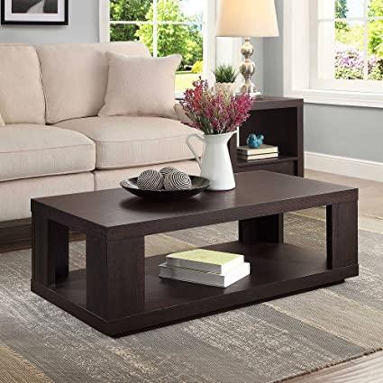 Amazon.com: Contemporary Design Steele Rectangle Coffee Table for .