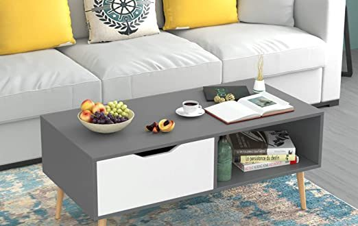 Amazon.com: HOMFA Coffee Tables for Living Room TV Stand, Wooden .