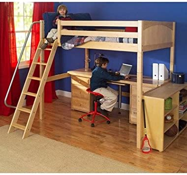 Amazon.com: Maxtrix Kids Grand 3 / Giant 3 Full High Loft Bed with .