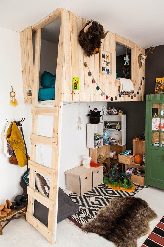25 Cool and Fun Loft Beds for Kids | Kid beds, Playhouse bed, Kids .