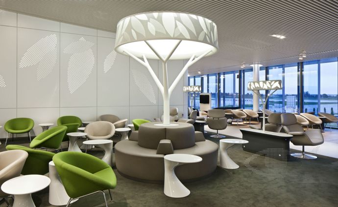 The New Air France Business Lounge Design Inspired by Nature .