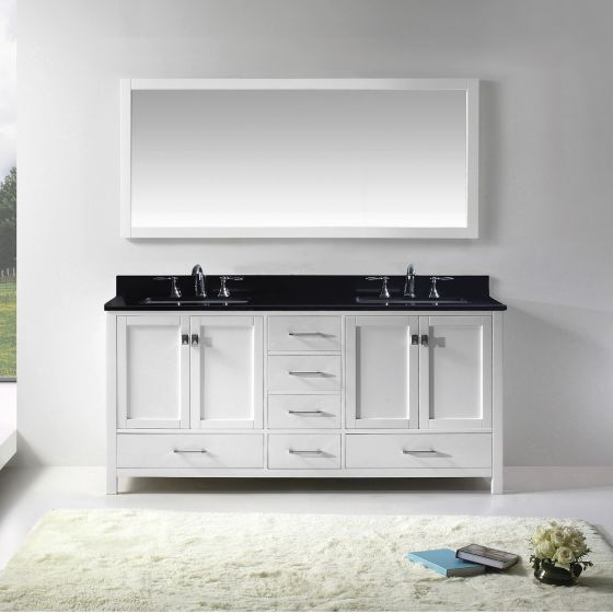 "13 Beautiful 72"" Bathroom Vanity Ideas for Master Bathrooms ."