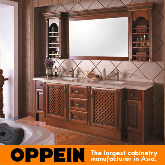 China Oppein Classic Solid Wood Luxury Bathroom Vanity (OP13-055 .