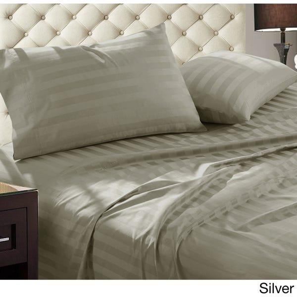 Shop Luxury Egyptian Cotton Damask Stripe 1000 Thread Count 4 .