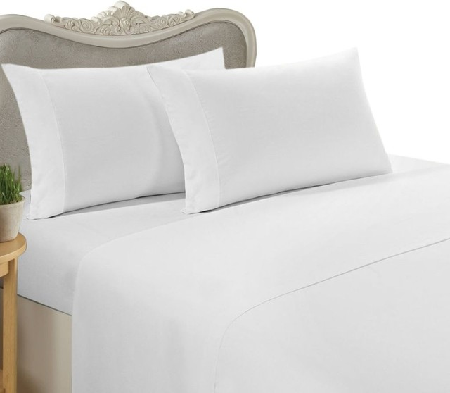 600 Thread Count Egyptian Cotton Solid Bed Sheet Set .