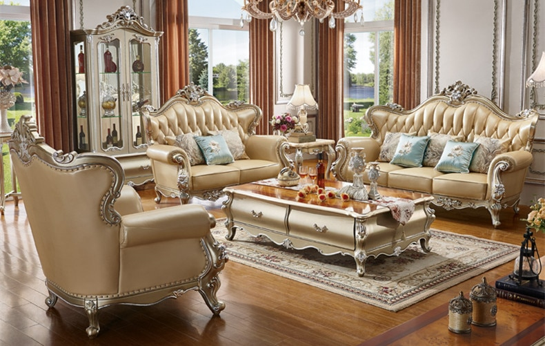 Luxury living room furniture classic european sofa set|Living Room .