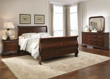 Liberty Furniture Carriage Court 4 Piece Sleigh Bedroom Set in .
