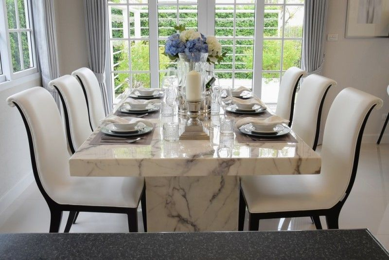 Marble Dining Room Table And Chair Sets