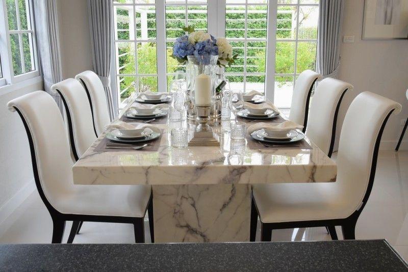 27 Modern Dining Table Setting Ideas | Luxury dining room, Modern .