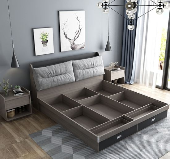 China Modern Hotel Furniture Set 1.8m/1.5m Master Bedroom Double .