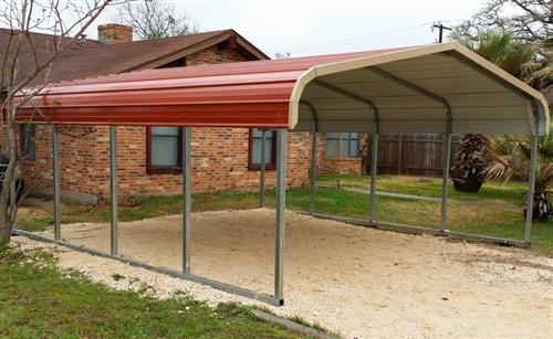 18x21 regular metal carport - Alan's Factory Outlet - Flori
