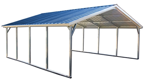 24x31 vertical style metal carport - Alan's Factory Outl