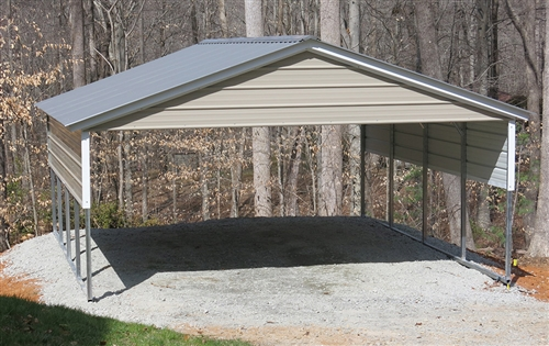 20x21 vertical style metal carport - Alan's Factory Outl