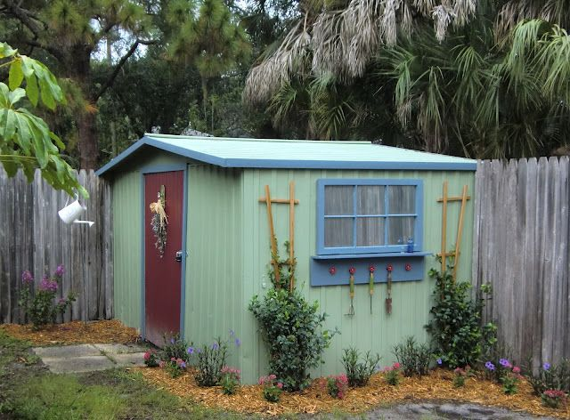 backyard shed makeover | Backyard sheds, Shed makeover, Backyard sh