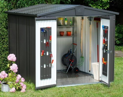 Store More Europa Metal Shed Size 2A | Garden storage shed, Shed .