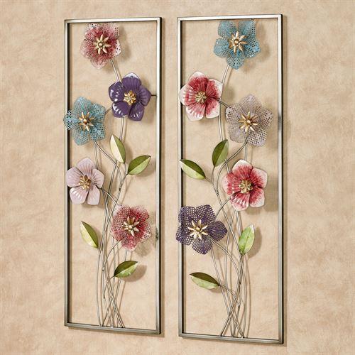 Blooms of Spring Floral Metal Wall Art S