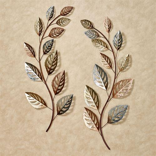 Glistening Leaves Autumn Metal Wall Art S