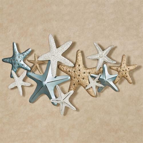 Starfish Collage Coastal Metal Wall A