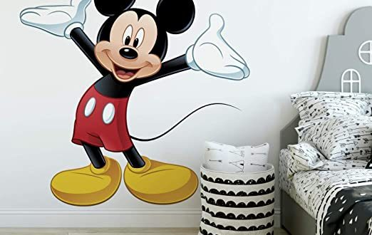 Amazon.com: RoomMates Mickey Mouse Peel and Stick Giant Wall Decal .
