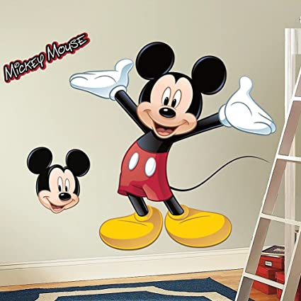 Amazon.com: Giant MICKEY MOUSE WALL DECAL Disney Bedroom Stickers .