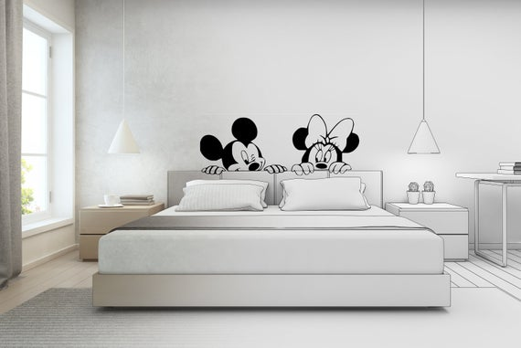 Mickey Mouse & Minnie Mouse Wall Sticker Bedroom/Living | Et