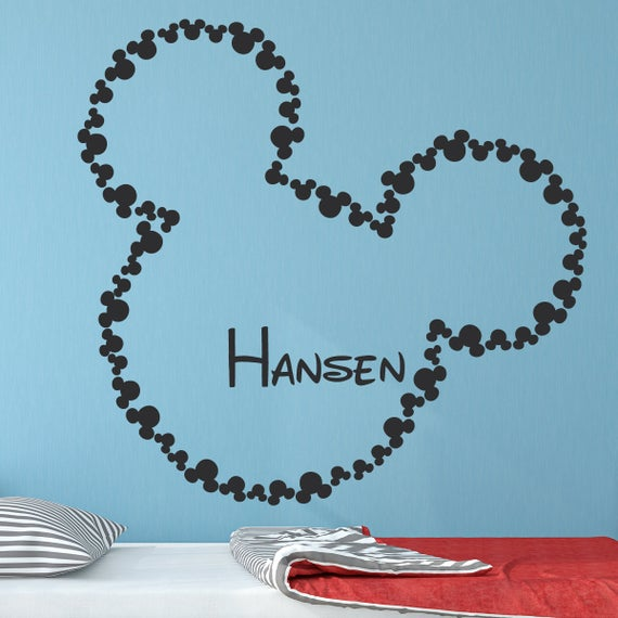Mickey Mouse Wall Decal Mickey Mouse Disney Vinyl Wall Decals | Et