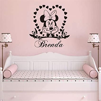 Amazon.com: Wikaus Mickey Minnie Mouse Wall Art Decal Sticker Wall .