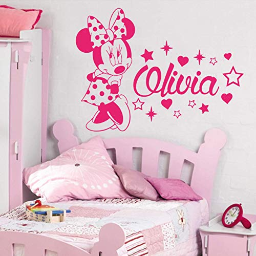 Amazon.com: Minnie Mouse Wall Decal Personalized Name/Baby Girl .