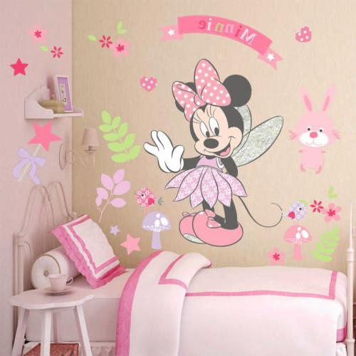 Lovely Minnie Mouse Wall Stickers Vinyl Decals Gir