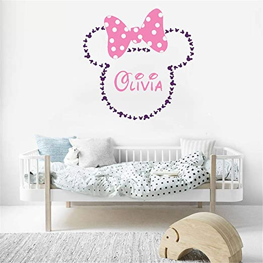 Amazon.com: Tioua Mickey Mouse Wall Sticker Decal Minnie Mouse .