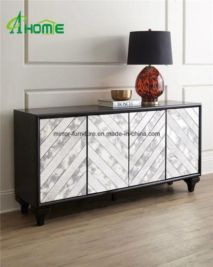 China High Quality Cheap Livingroom Cabinet Mirrored Wood Storage .