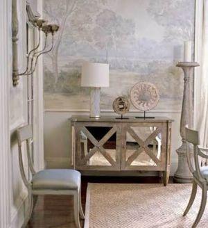Stylish home: Mirrored furnitu