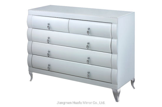 China High Quality Cabinet 5 Drawers Mirrored Furniture for Living .