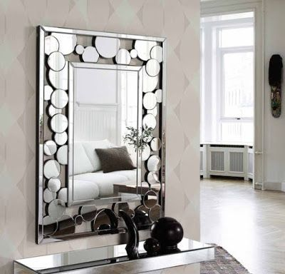 modern decorative wall mirrors designs ideas for living room .
