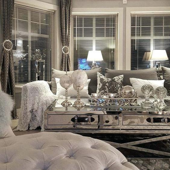 Mirrored Glass Living Room Furniture | Glam living room, Living .