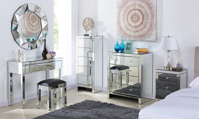 mirrored bedroom furniture very suitable with mirrored bedroom .