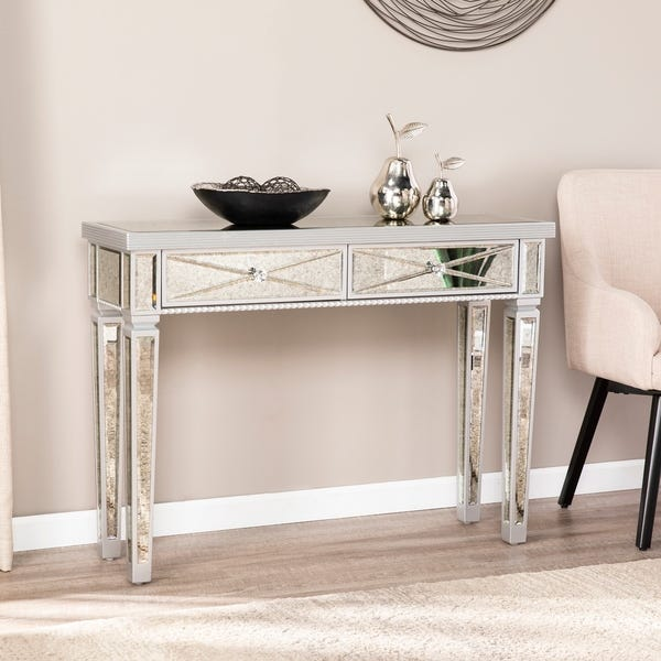 Shop Silver Orchid Ham Mirrored Console Table - Overstock - 256127