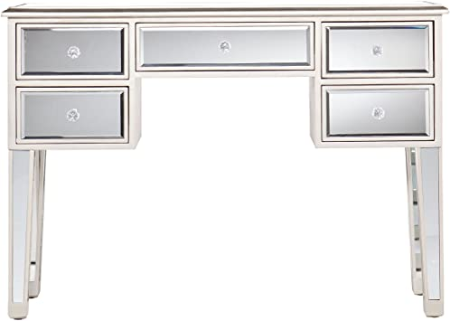 Amazon.com: Mirage Mirrored Desk Console Table - Mirror Surface w .