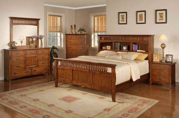 Amazing Mission Style Bedroom Furniture Cherry Be Homezz In .