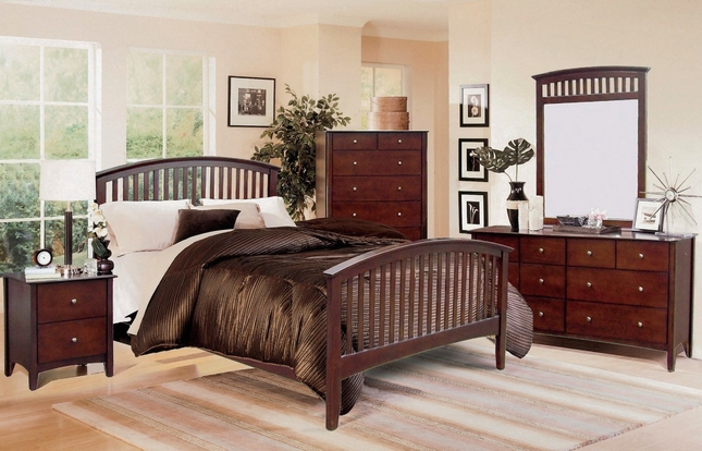 Mission Style Bedroom Set | Dark Brown Furniture S