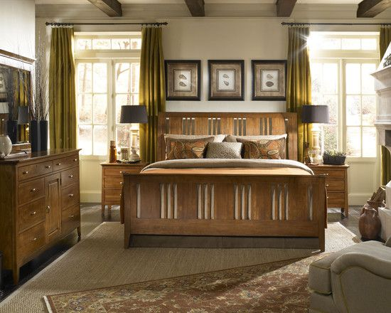 15 Beautiful Craftsman Bedroom Designs | Mission style bedrooms .