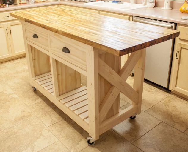 small mobile kitchen island butcher block | Moveis cozinha, Casa e .