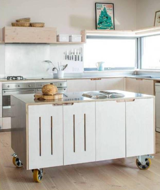 Best mobile kitchen island unit | Plywood kitchen, Kitchen design .