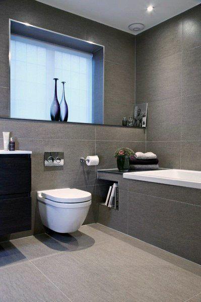 Top 60 Best Grey Bathroom Tile Ideas - Neutral Interior Designs .