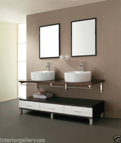 Bathroom Vanity - Modern Bathroom Vanity Set - Double Sink - Asti .