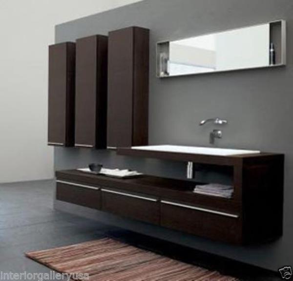 Bathroom Vanity - Modern Bathroom Vanity Set - Single Sink .