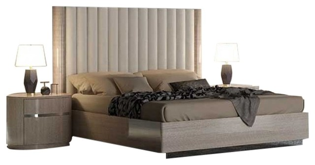 Giorgio 3-Piece Modern Bedroom Set, Beige - Contemporary - Bedroom .