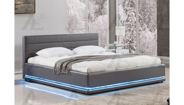 Evita Modern Platform Bed With Ligh
